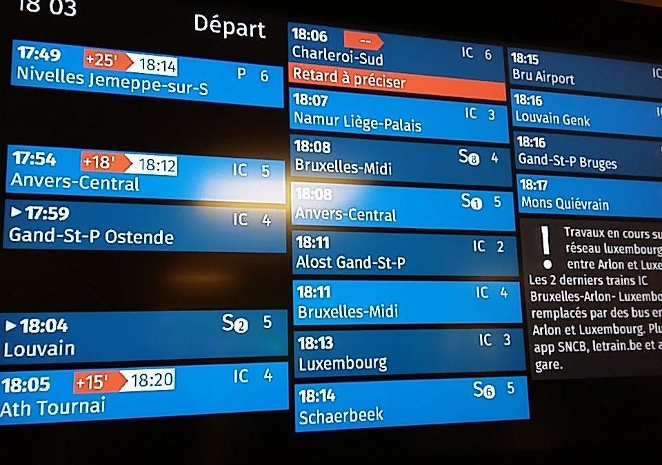 Ligne 94 vers Bruxelles – Ponctualité encore en recul à l'heure de pointe du matin